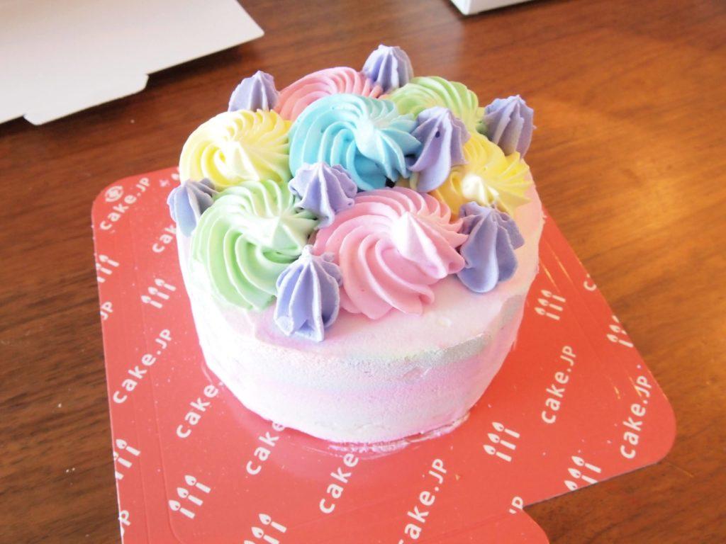 解凍前のケーキ