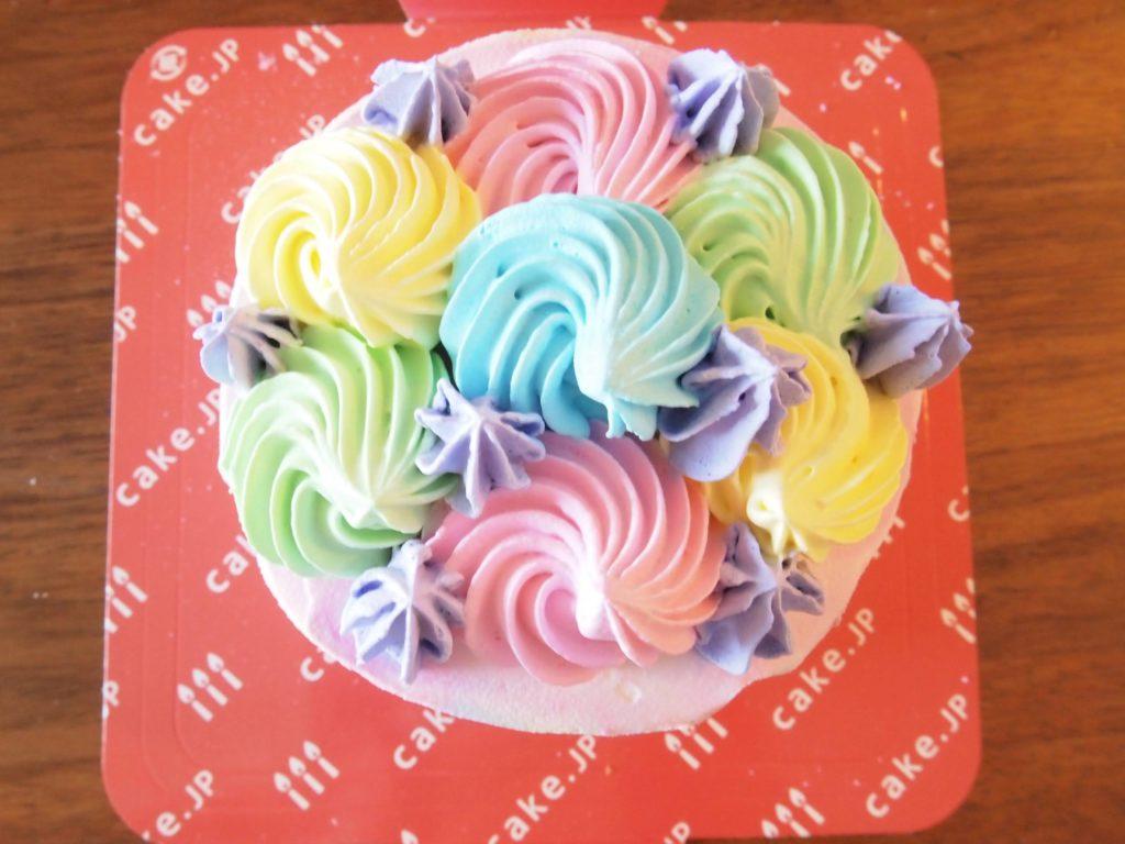 ケーキの真上ショット、かわいい~~